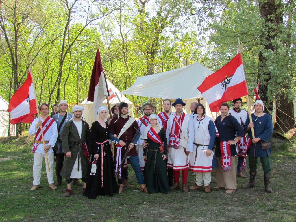Die österreichische Abordnung beim Battle of the Nations 2012.